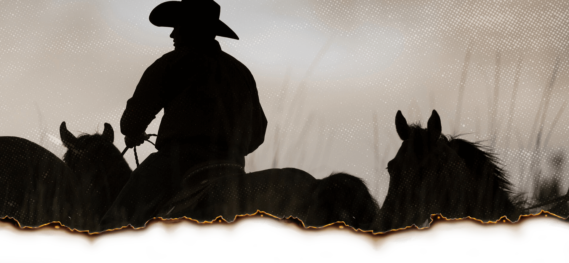 Bylaws Header Image Cowboy Riding With Horses
