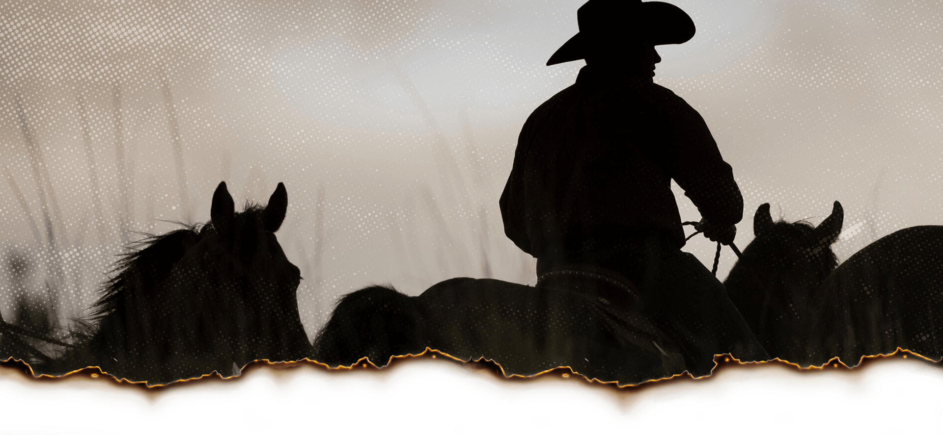 Bylaws Header Image Cowboy With Horses